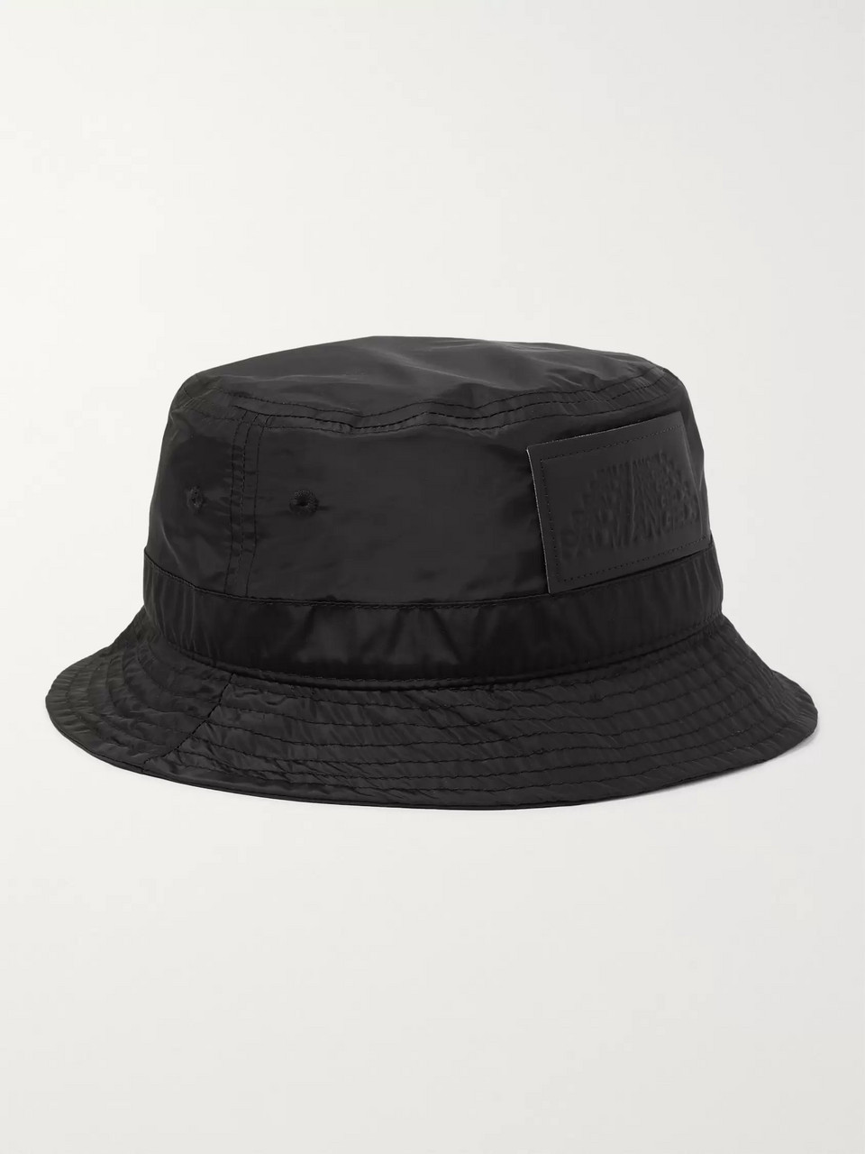 Palm Angels Logo-Appliquéd Shell Bucket Hat