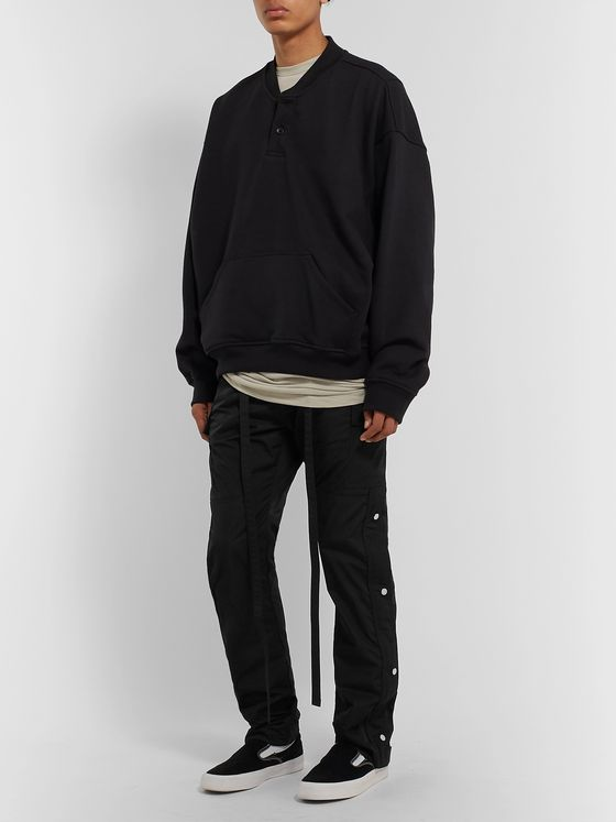 Fear of God Black Slim-Fit Shell Drawstring Cargo Trousers