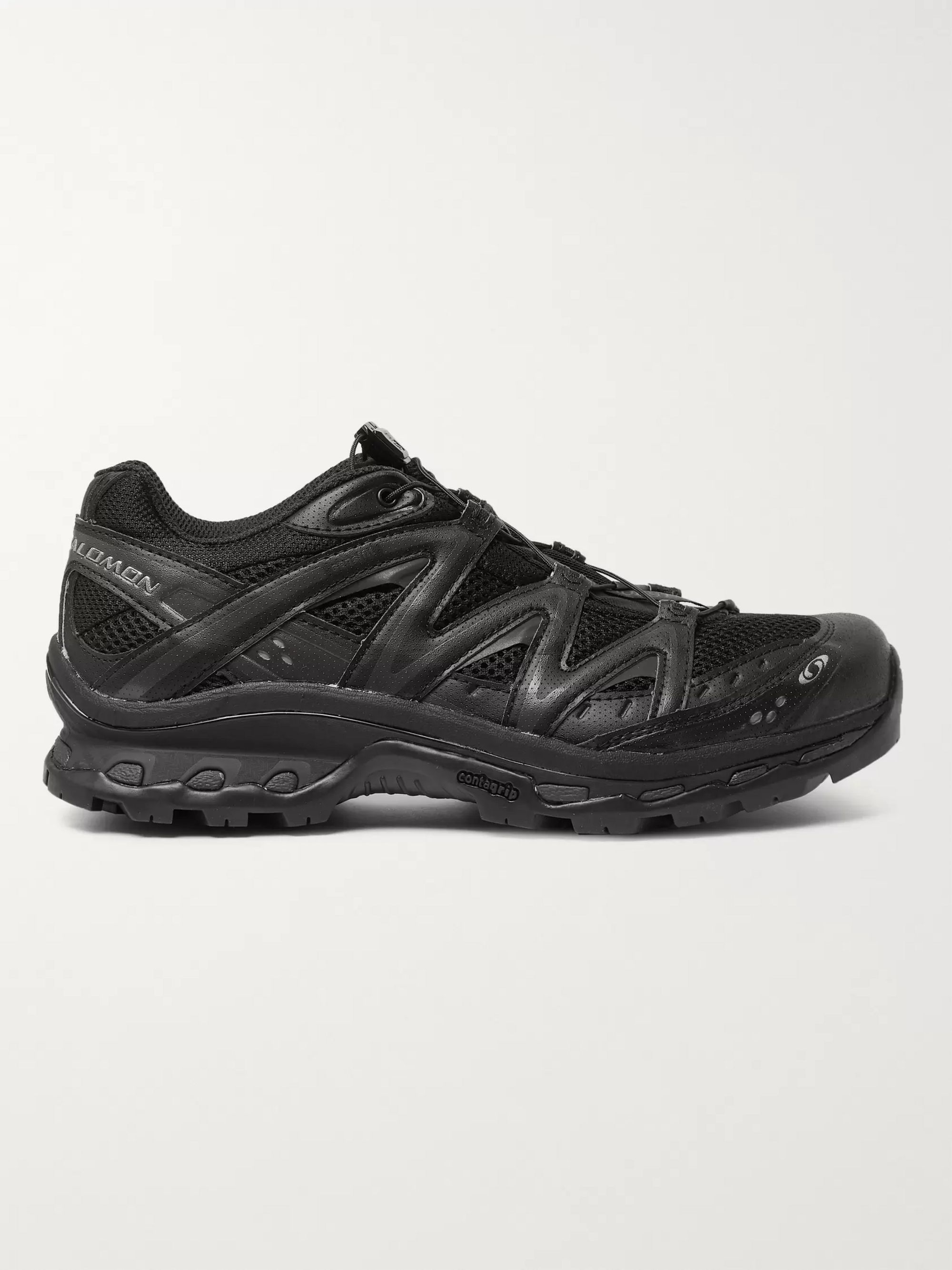 Salomon XT-Quest ADV Mesh, Faux Leather and Rubber Running Sneakers