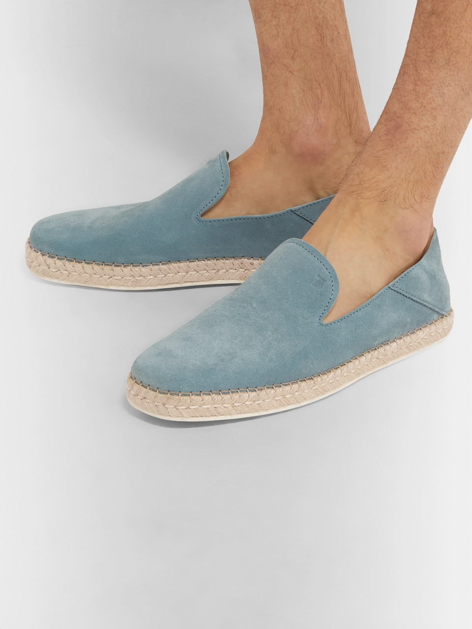 Tod's Collapsible-Heel Suede Espadrilles