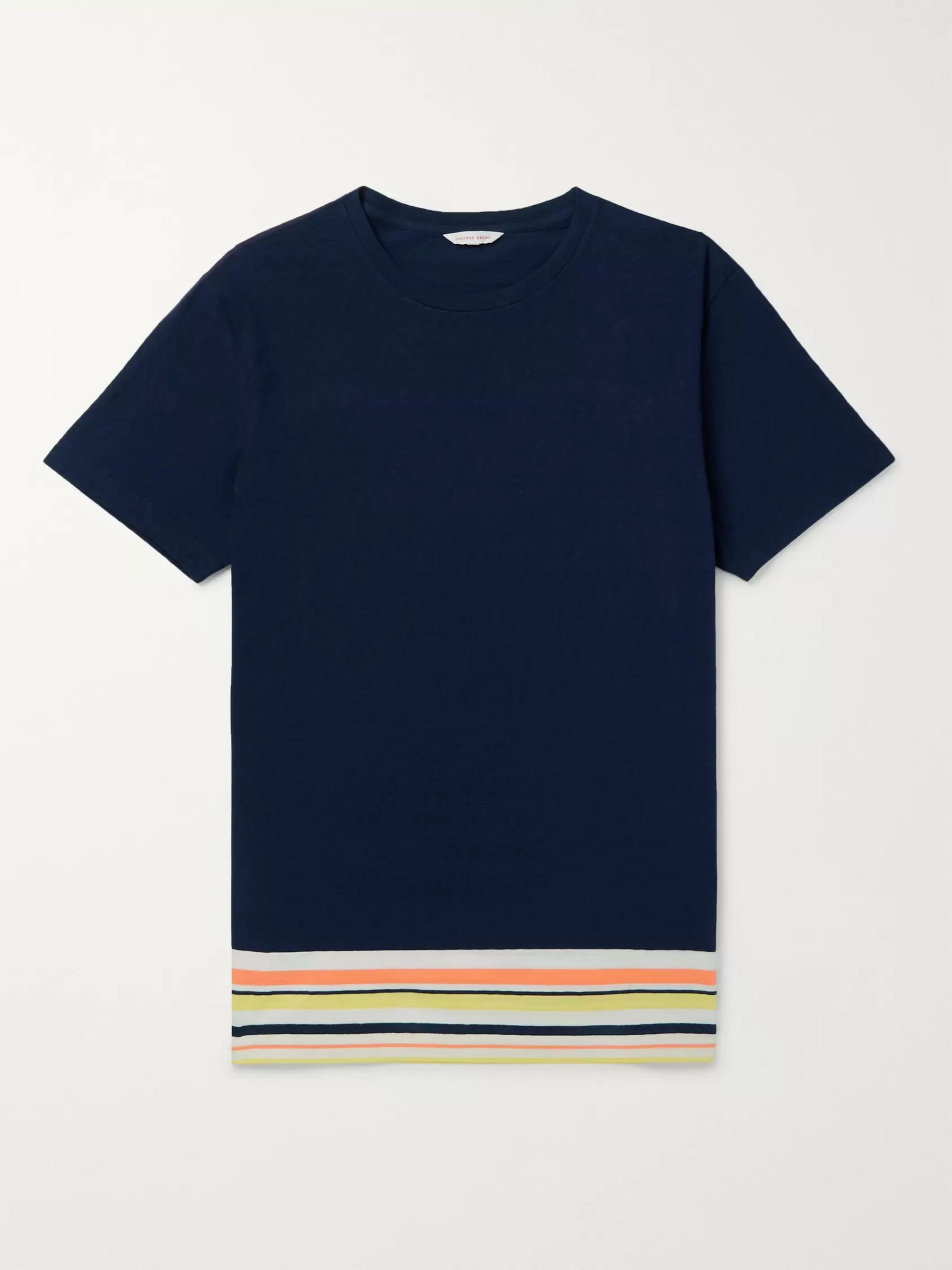 Orlebar Brown Striped Cotton and Linen-Blend Jersey T-Shirt