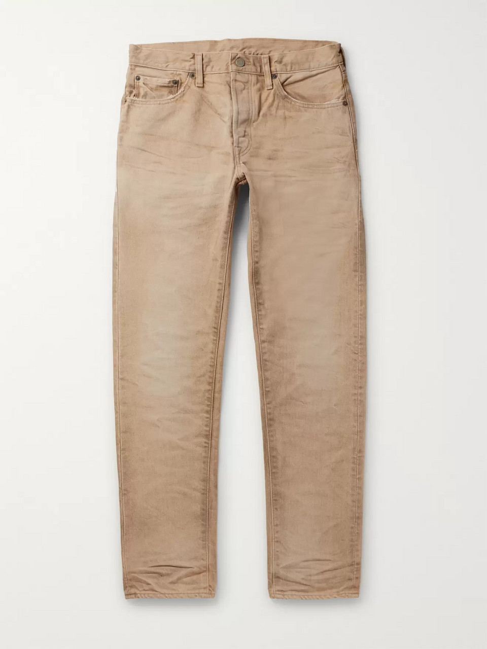 Fabric-Brand & Co Slim-Fit Distressed Denim Jeans