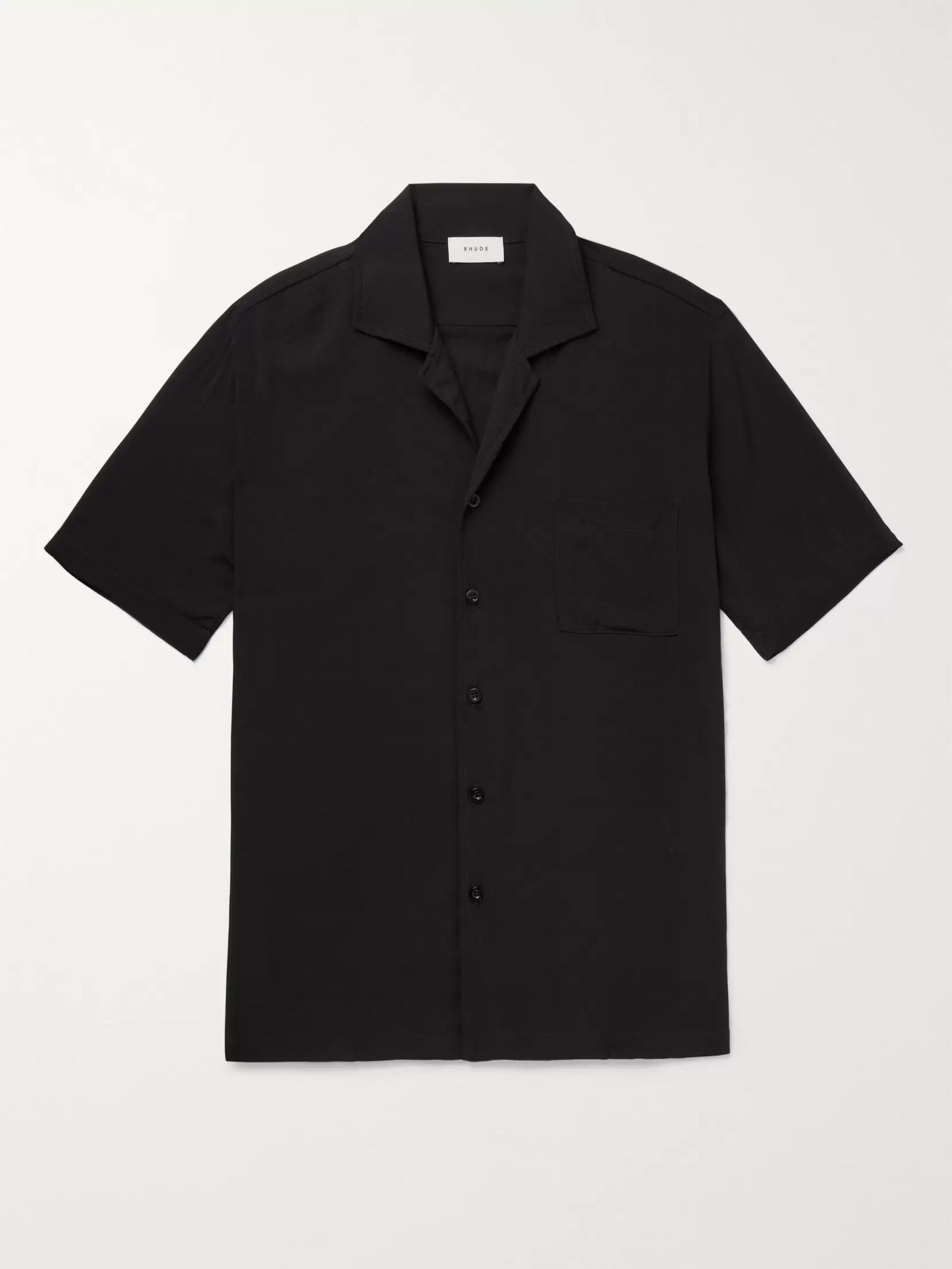 Rhude Printed Camp-Collar Woven Shirt