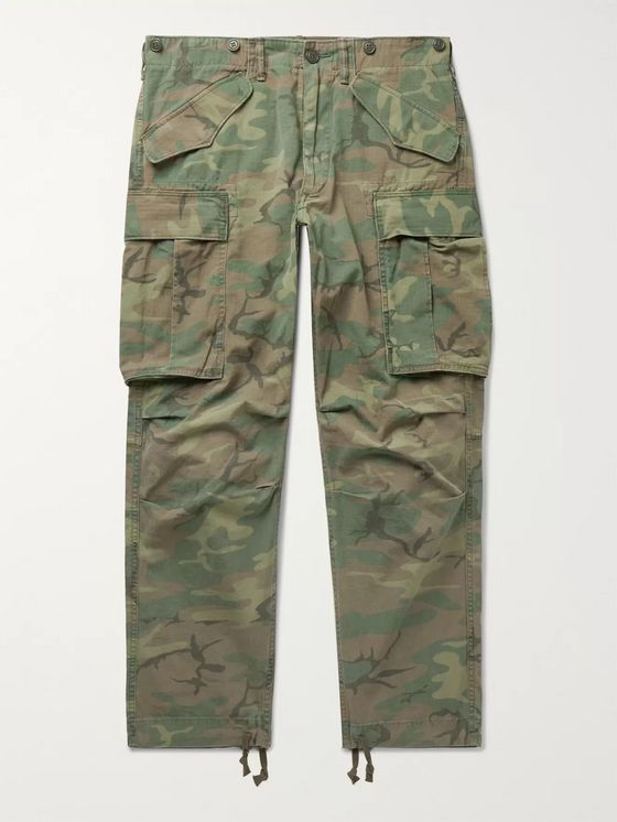 RRL Camouflage-Print Cotton-Ripstop Cargo Trousers