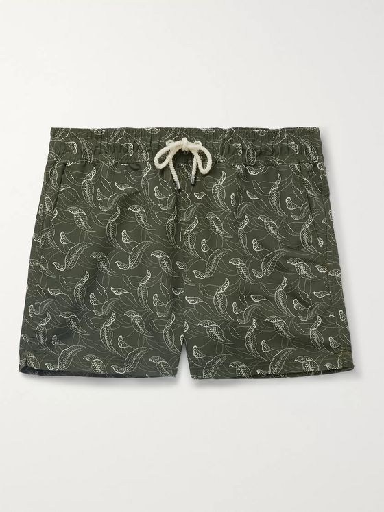Atalaye Catalpas Short-Length Printed Swim Shorts
