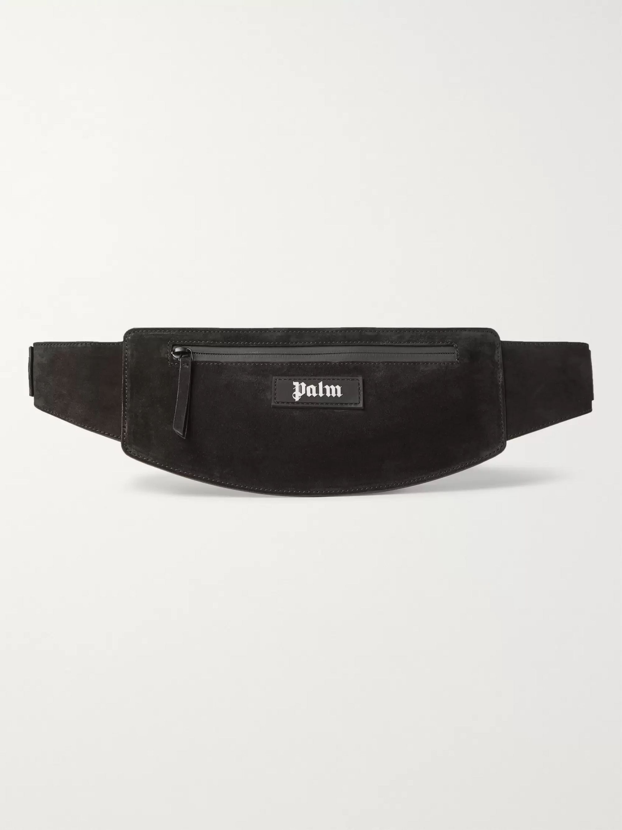 Palm Angels Logo-Appliquéd Suede Belt Bag