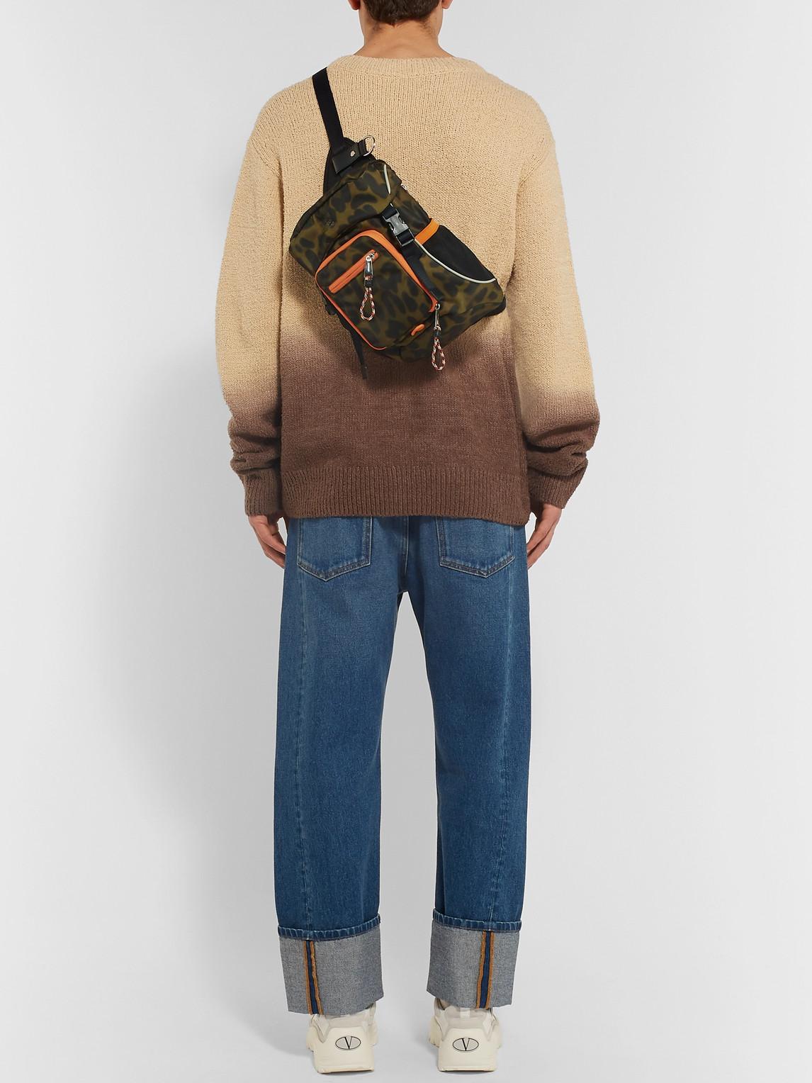 Burberry Backpacks ANIMAL-PRINT NYLON CROSS-BODY BACKPACK