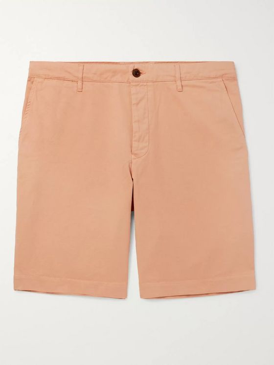 MR P. Slim-Fit Garment-Dyed Peached Cotton-Twill Bermuda Shorts