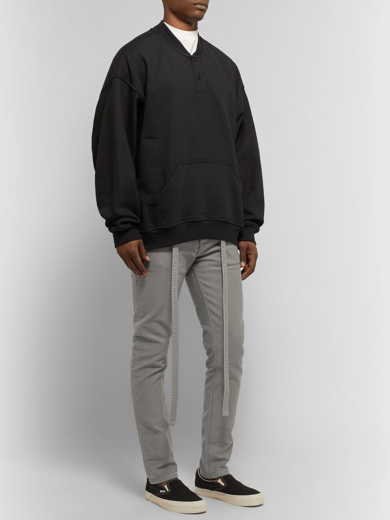 Fear of God Slim-Fit Belted Cotton-Corduroy Jeans