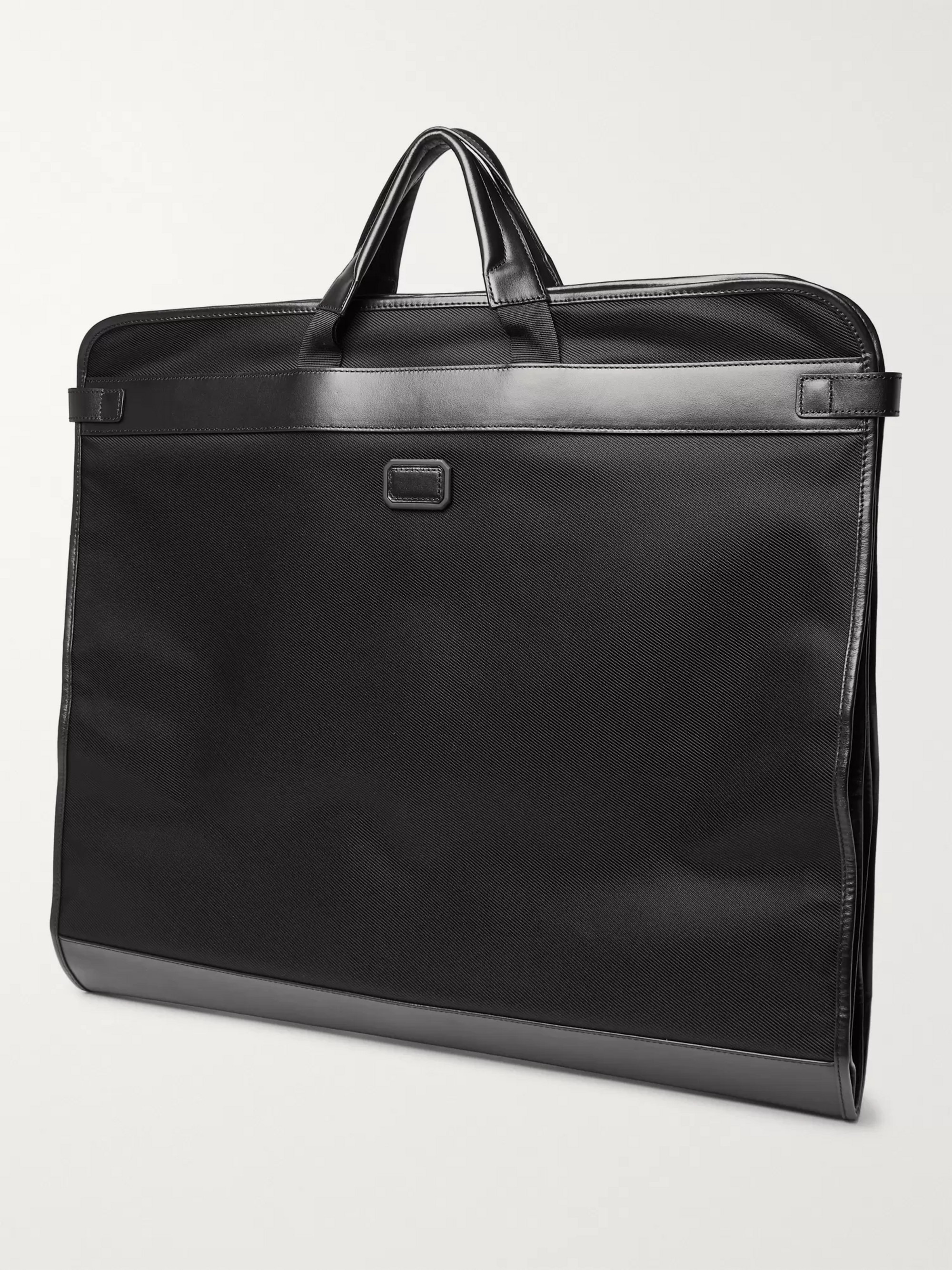 Montblanc Nightflight Leather-Trimmed Canvas Garment Bag