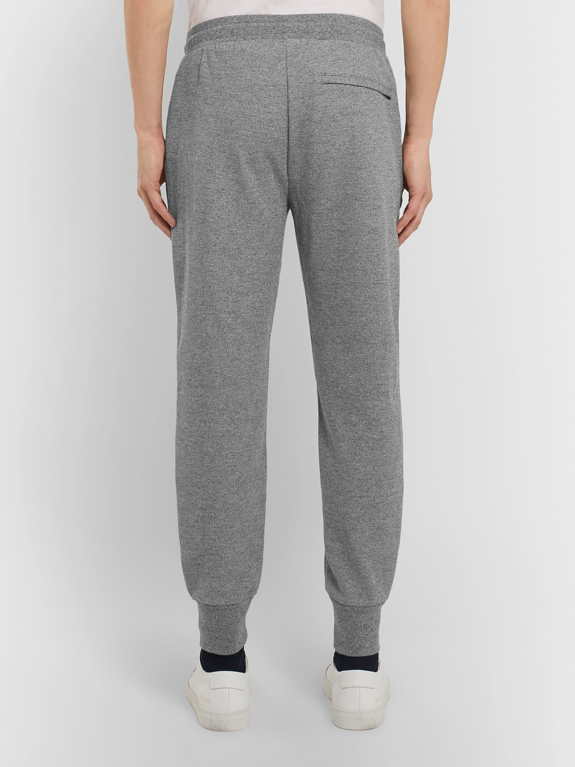 Theory Essential Slim-Fit Tapered Mélange Stretch-Knit Sweatpants