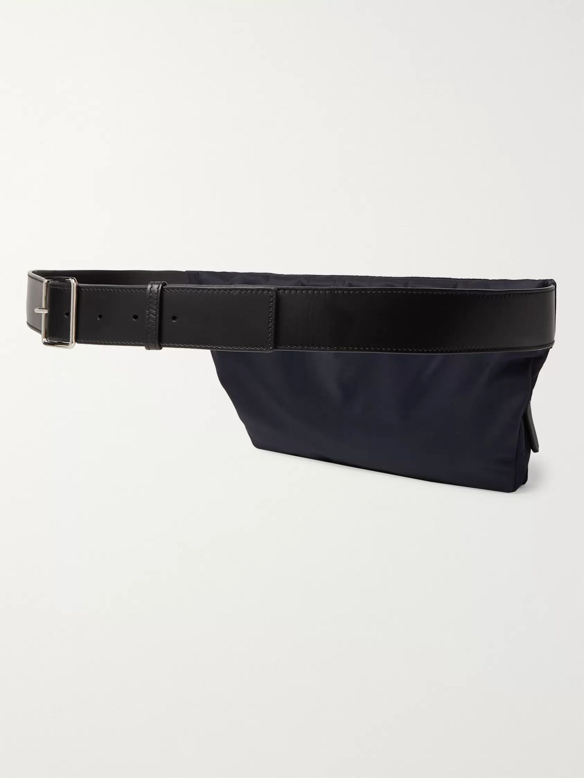 CALVIN KLEIN 205W39NYC Leather-Trimmed Embroidered Shell Belt Bag