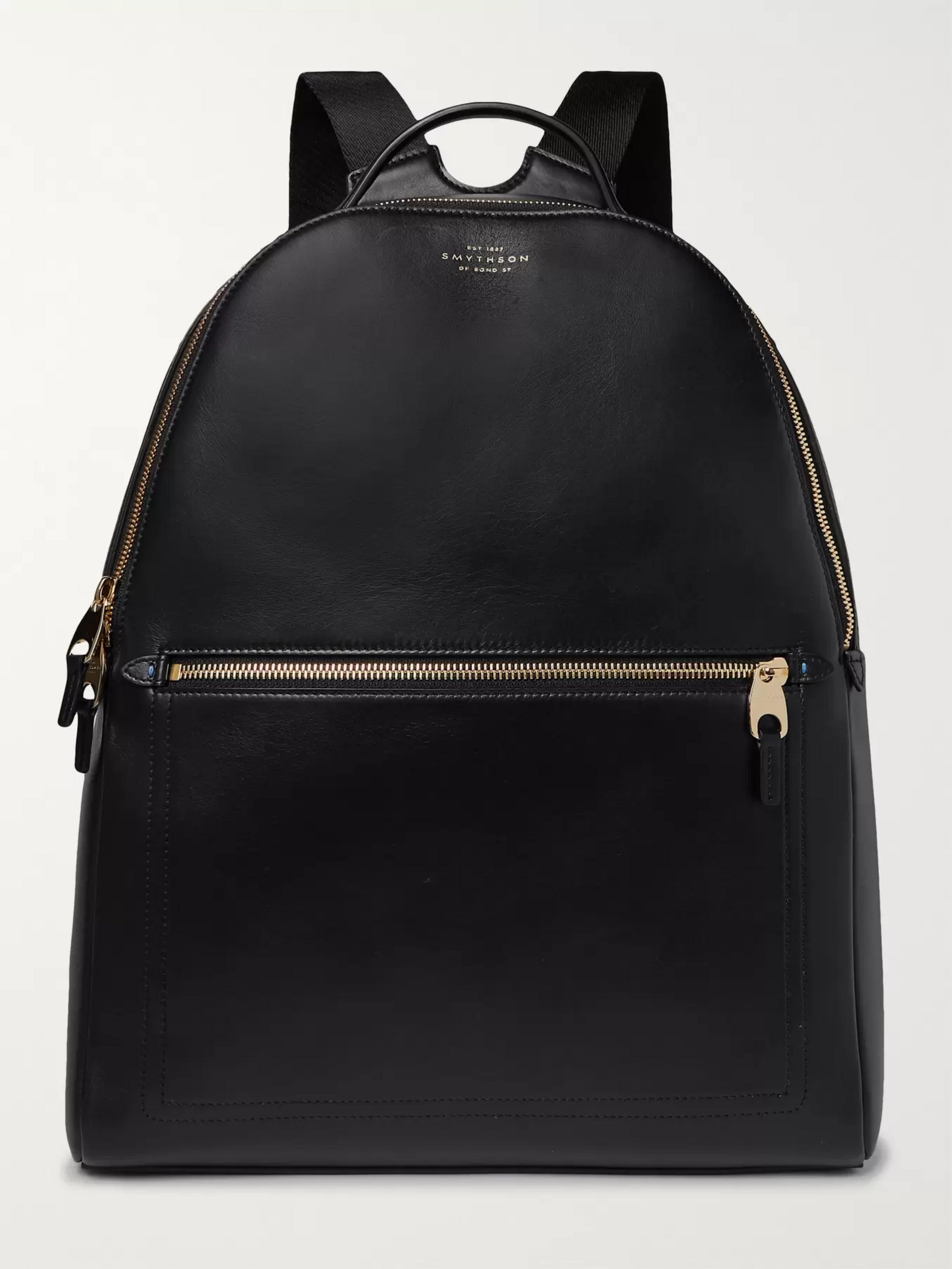 Smythson Bond Leather Backpack