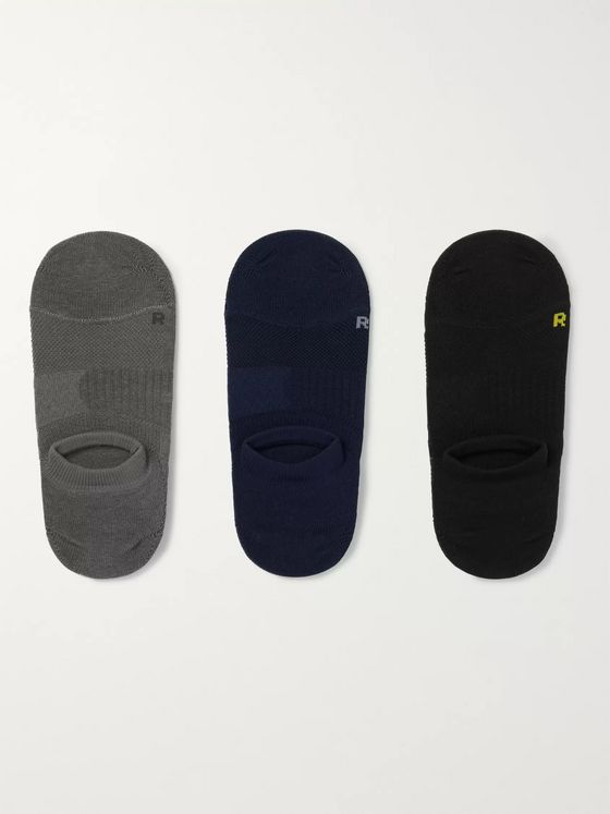 Mr P. Three-Pack No-Show Stretch-Knit Socks