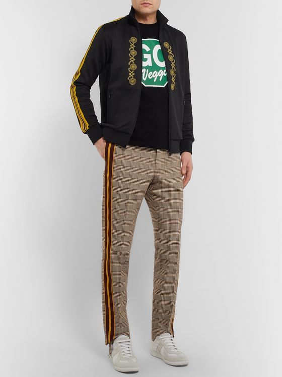 Stella McCartney Webbing-Trimmed Embroidered Tech-Jersey Track Jacket