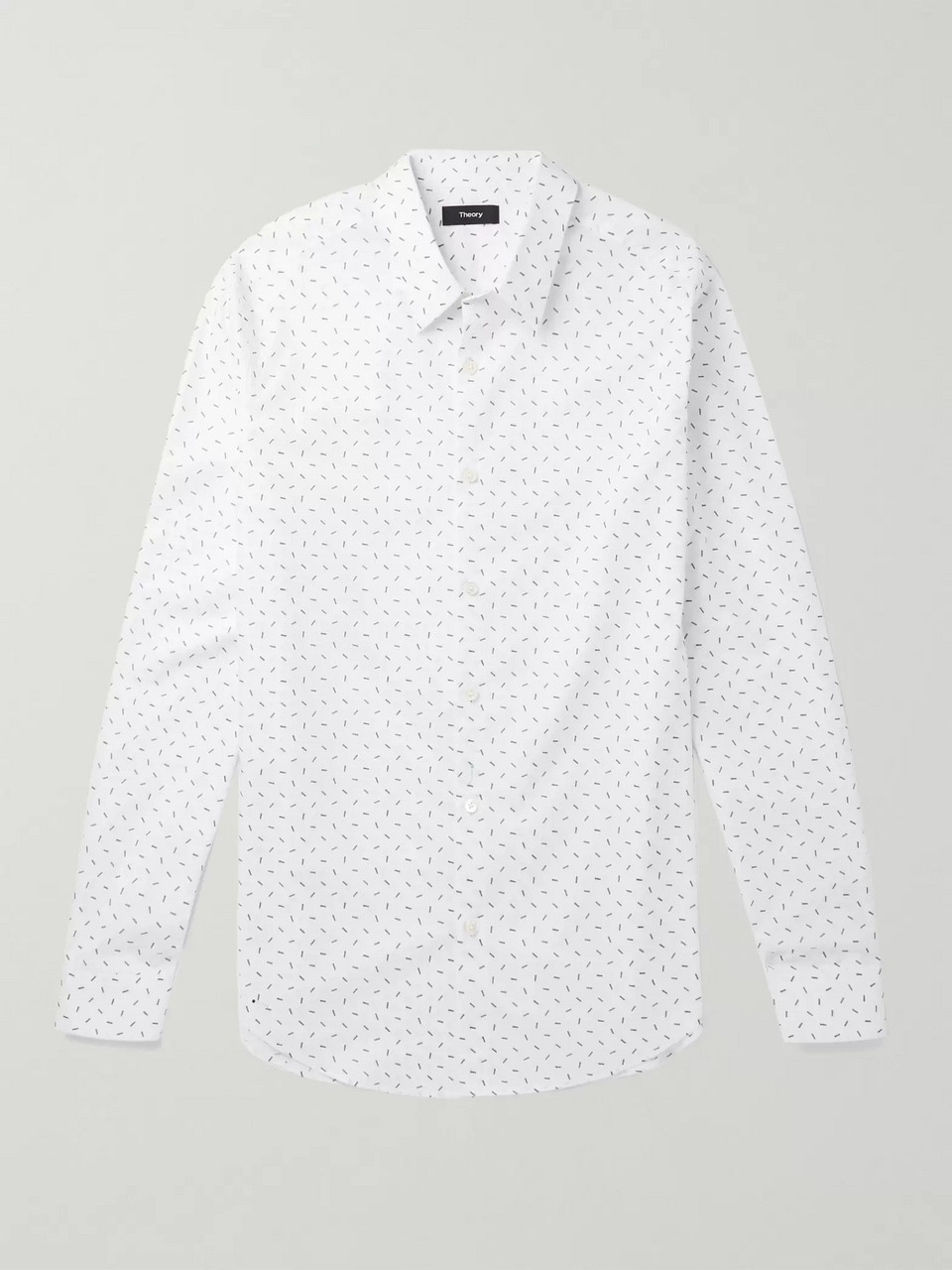 Theory Irving Printed Cotton Shirt