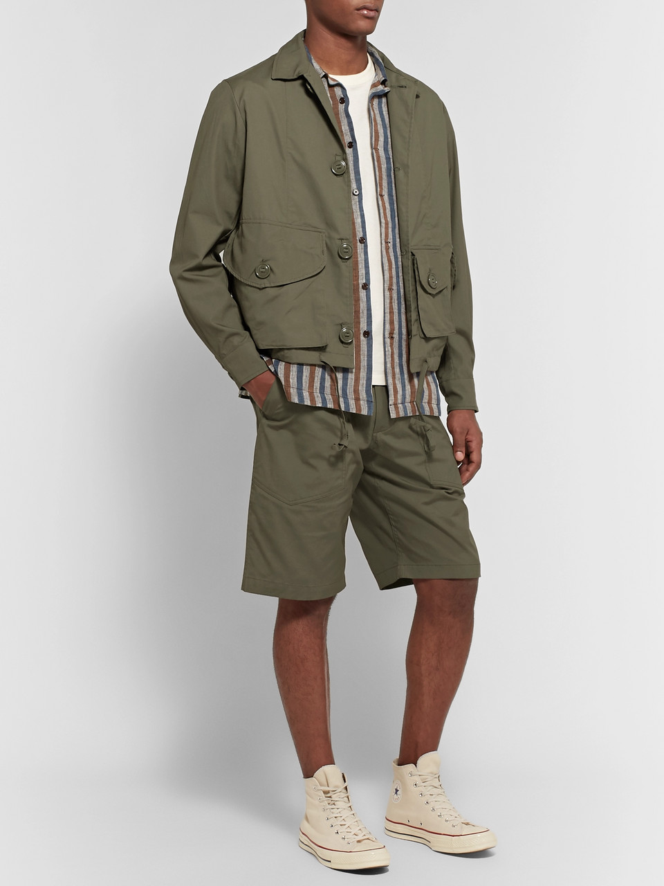 Monitaly Cotton-Canvas Field Jacket