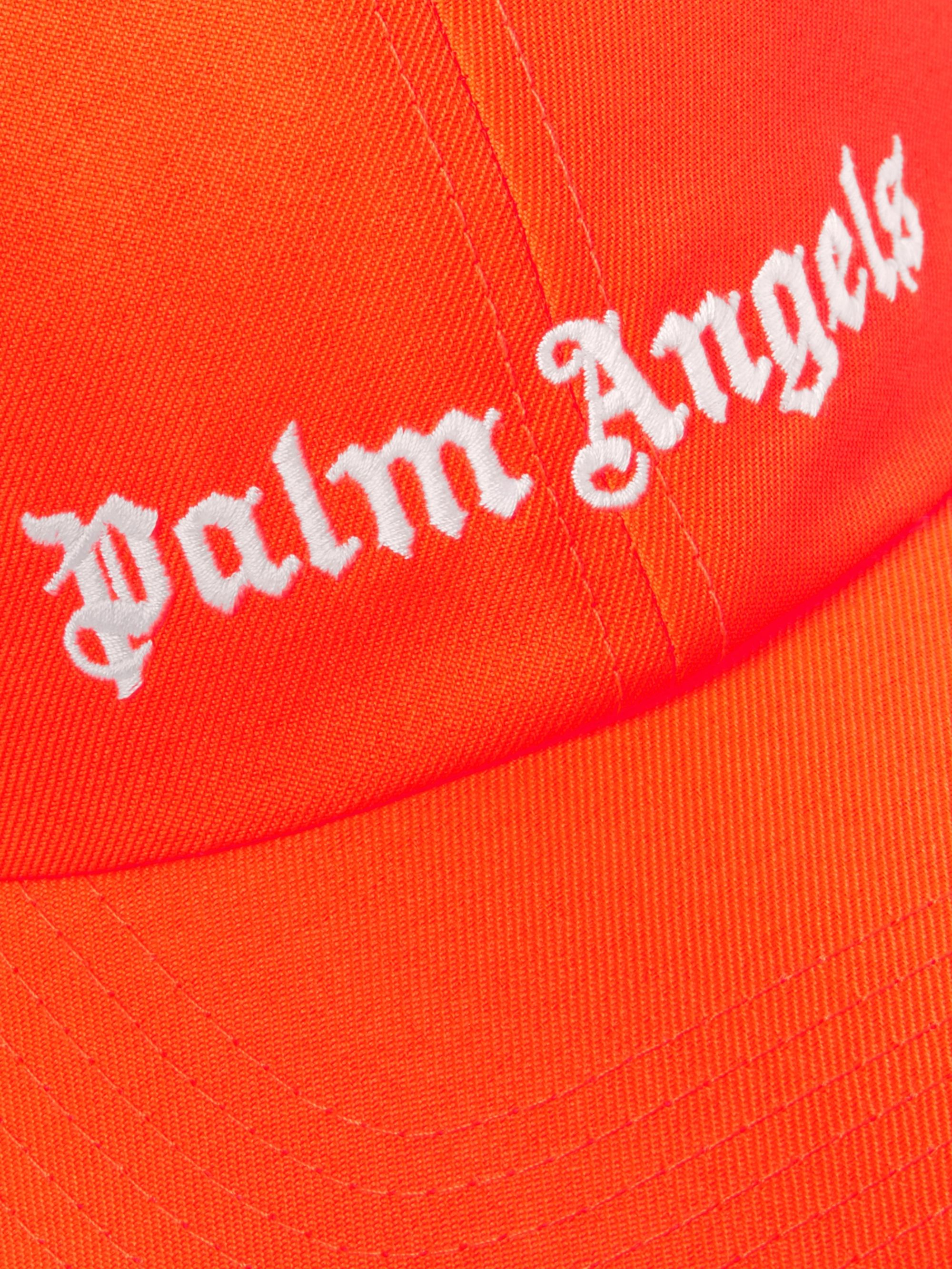 Palm Angels Logo-Embroidered Neon Twill Baseball Cap