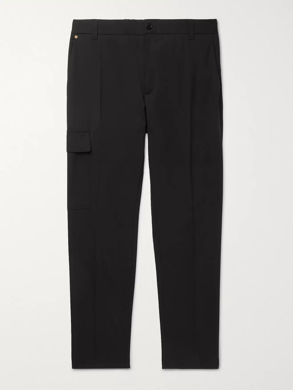 Versace Stretch Virgin Wool-Blend Cargo Trousers