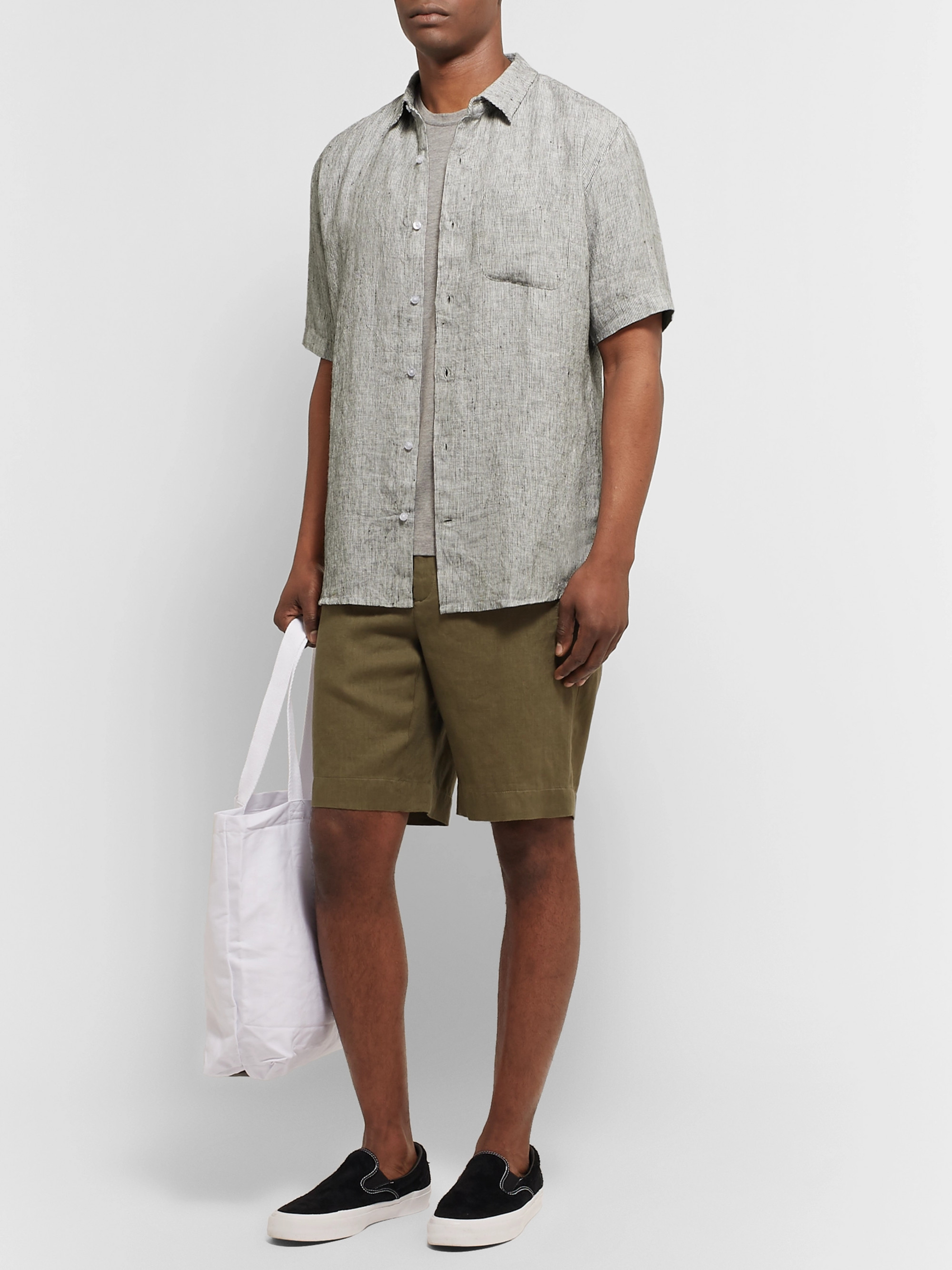 Thorsun Striped Slub Linen Shirt