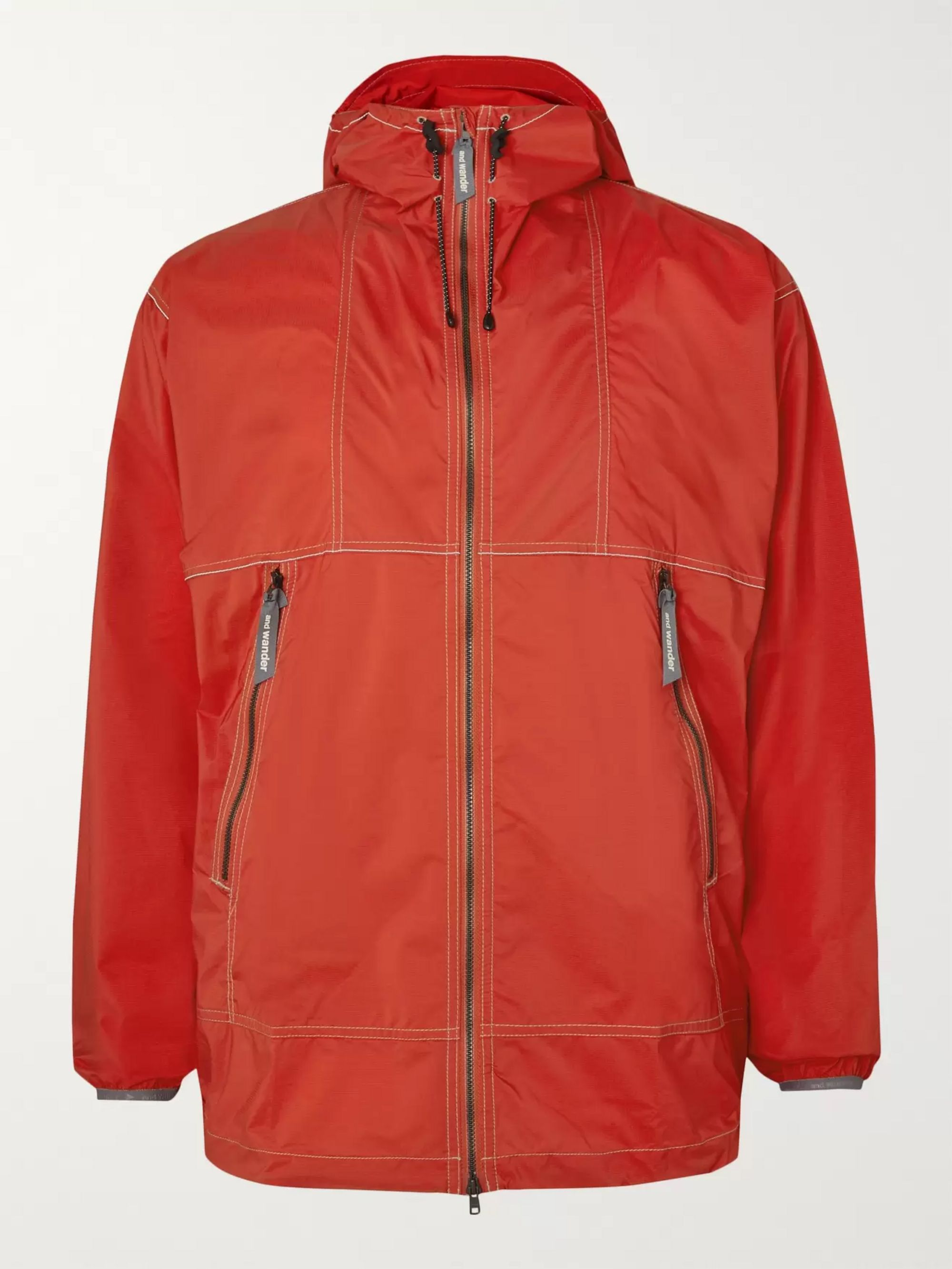 And Wander Pertex Shell Hooded Jacket