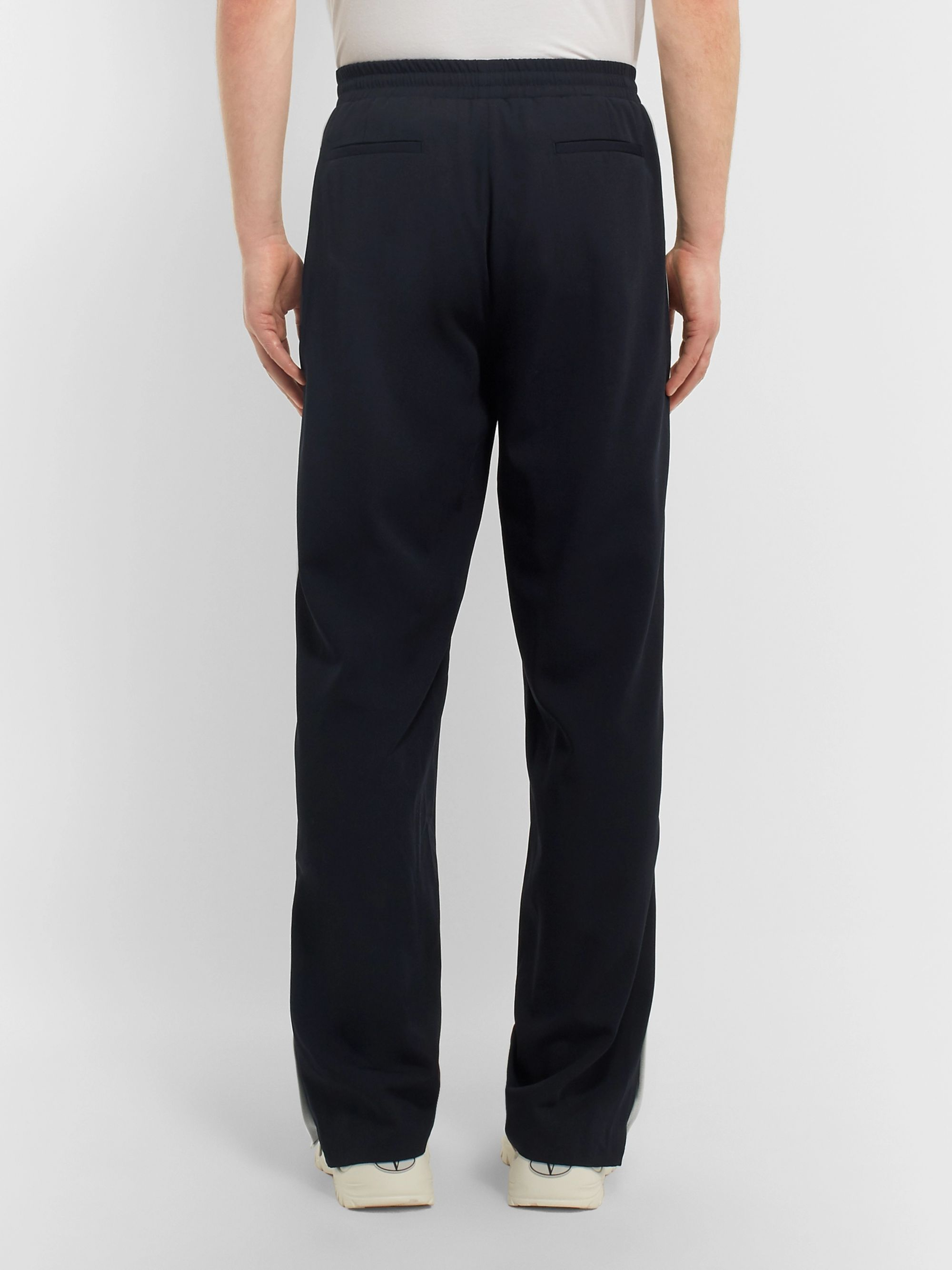 Valentino Striped Virgin Wool Track Pants