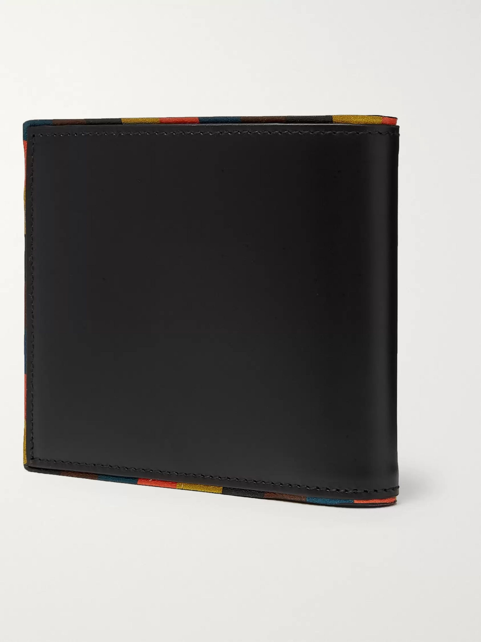 Paul Smith Stripe-Trimmed Leather Billfold Wallet