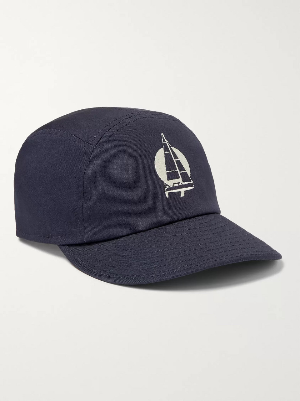 Arpenteur Embroidered Cotton-Twill Baseball Cap