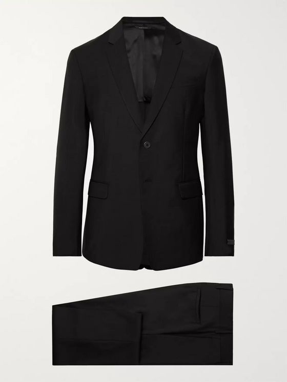 Prada Black Tela Slim-Fit Wool and Mohair-Blend Suit
