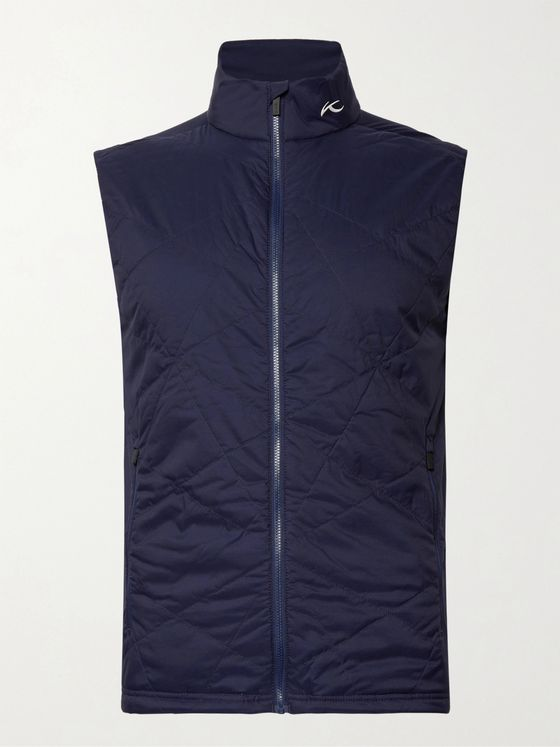 Kjus Golf Retention Slim-Fit Quilted Shell and Jersey Golf Gilet