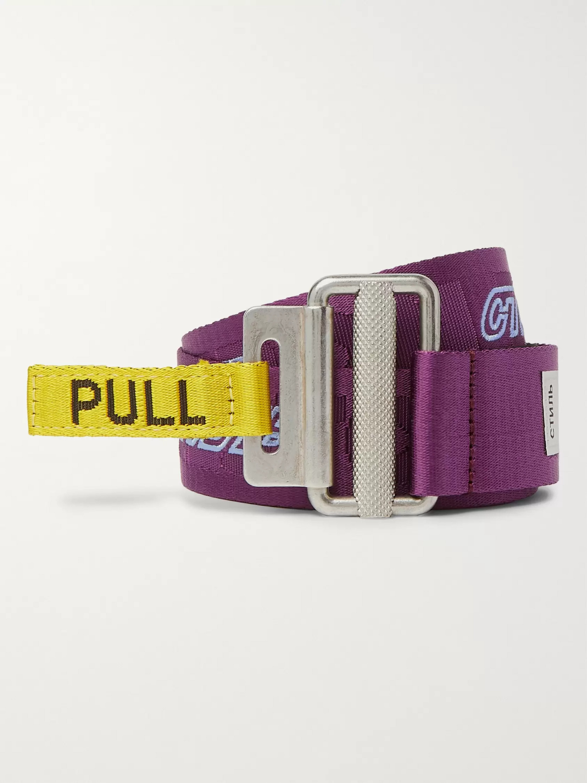 Heron Preston 4cm Logo-Embroidered Webbing Belt