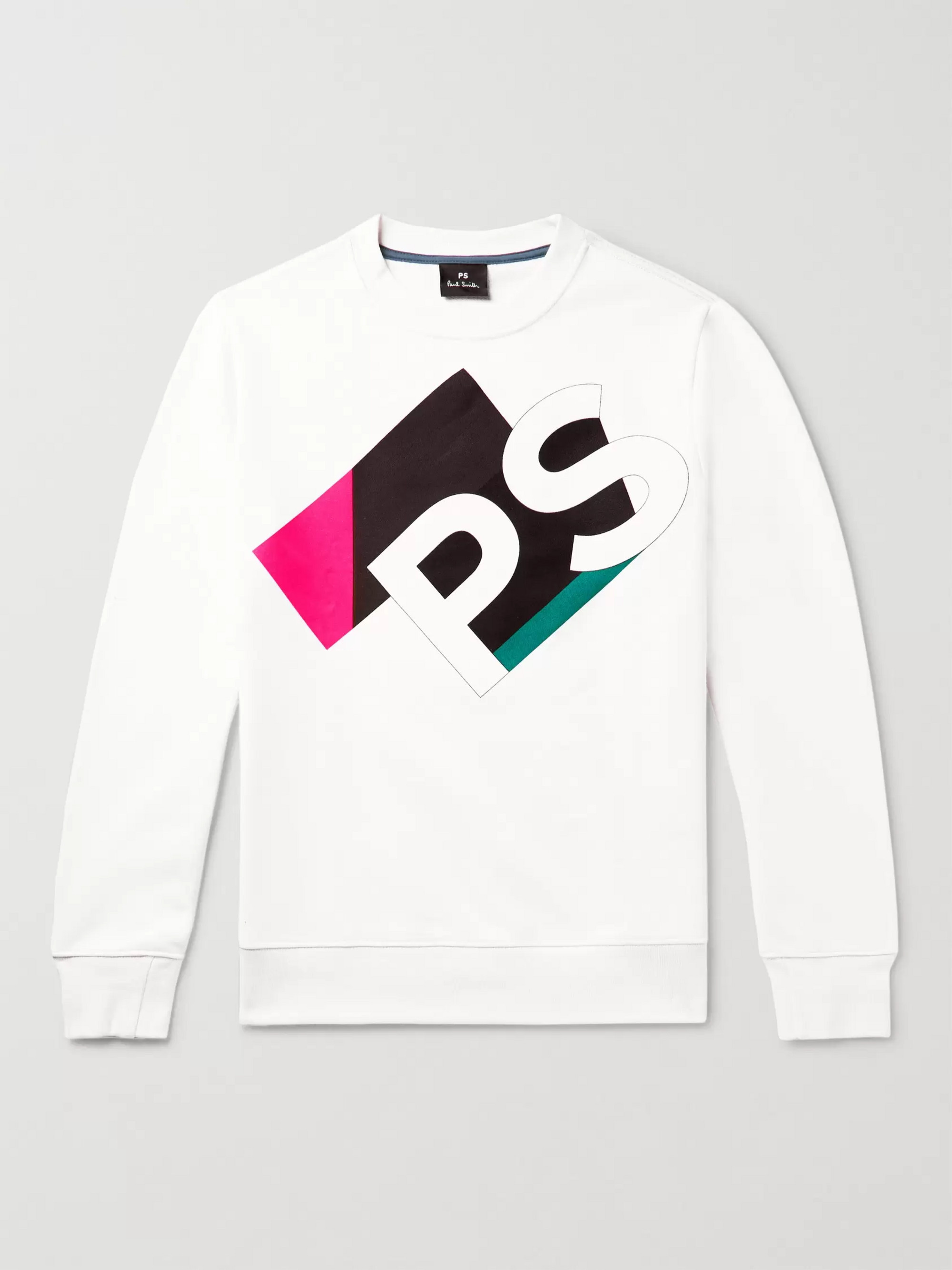 PS Paul Smith Logo-Print Organic Loopback Cotton Jersey Sweatshirt