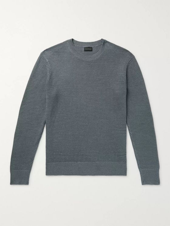 Club Monaco Textured Linen and Cotton-Blend Sweater