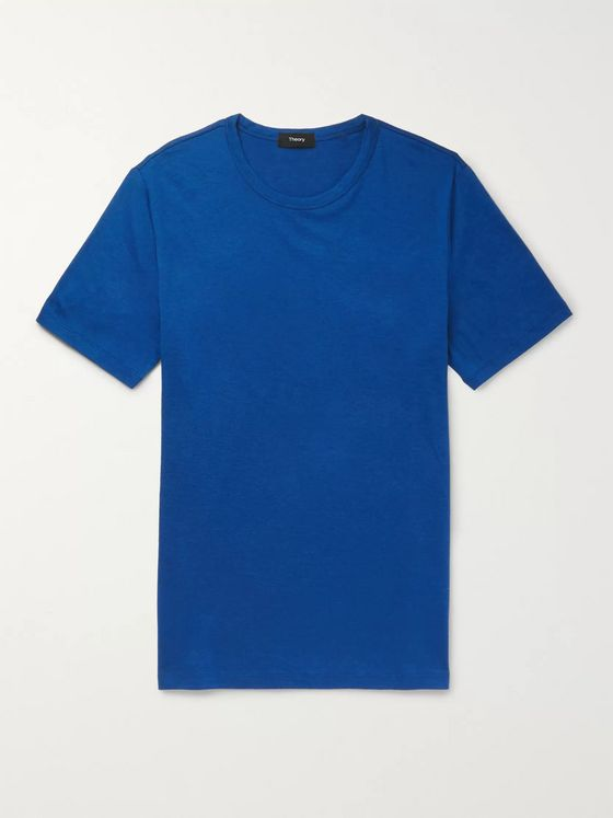 Theory Air Essential Cotton and Cashmere-Blend T-Shirt