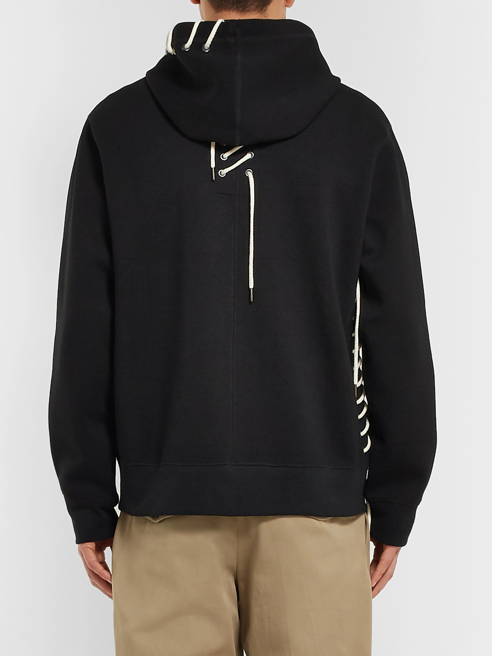 Craig Green Lace-Detailed Bonded-Jersey Hoodie
