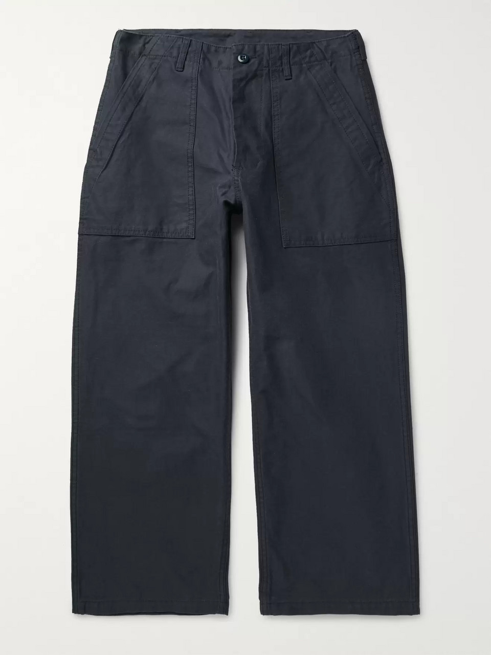 Beams Plus Cropped Wide-Leg Cotton-Twill Trousers