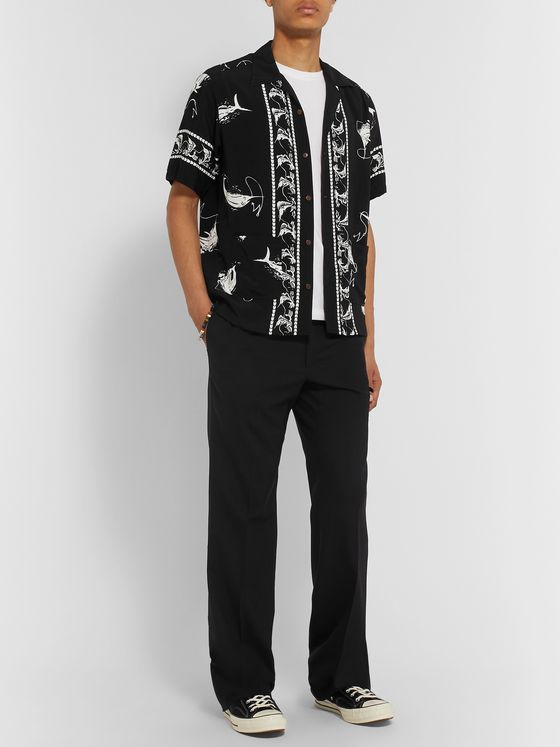 Neighborhood Aloha Camp-Collar Printed Voile Shirt