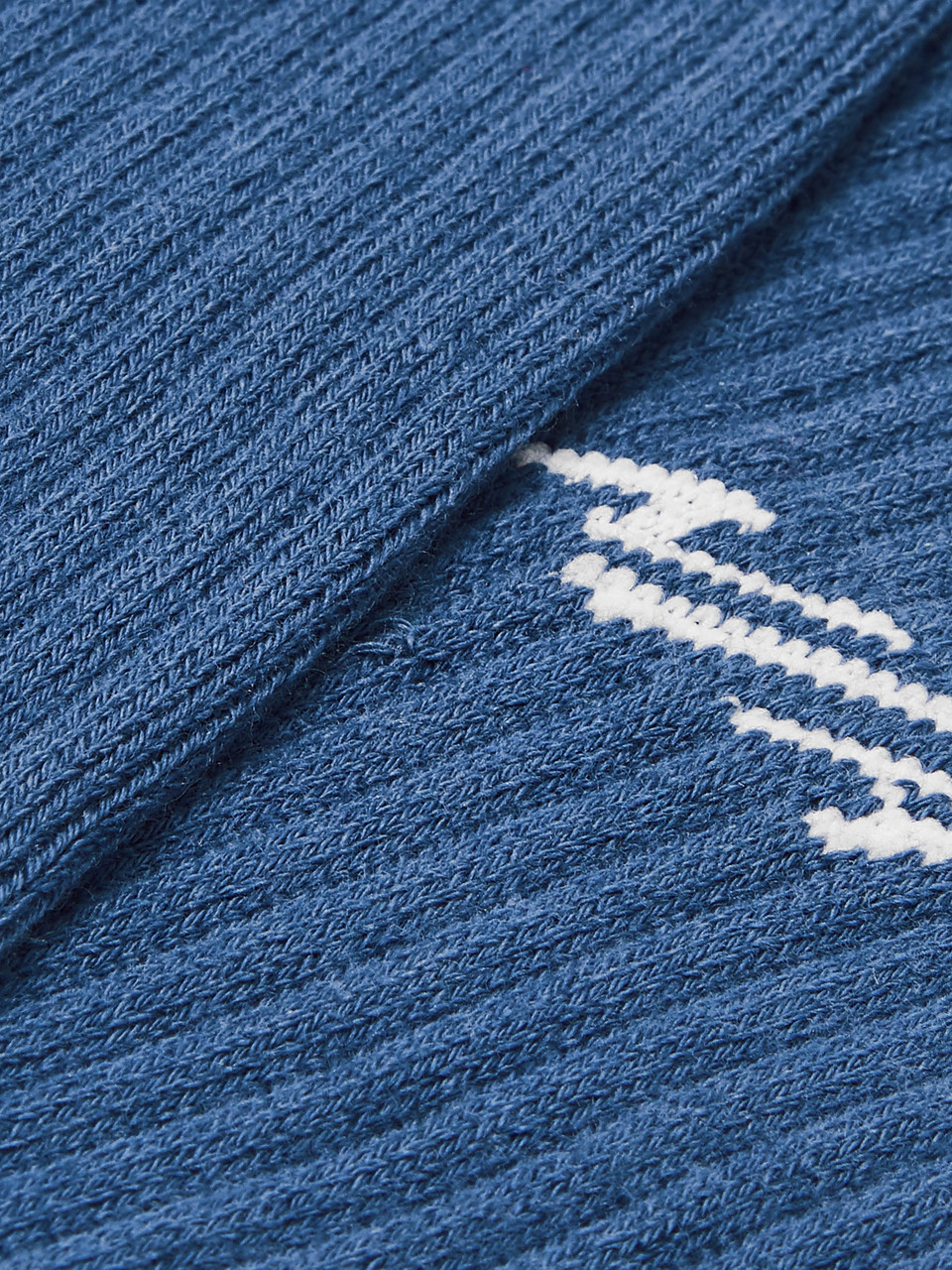 N/A Logo-Intarsia Stretch Cotton-Blend Socks