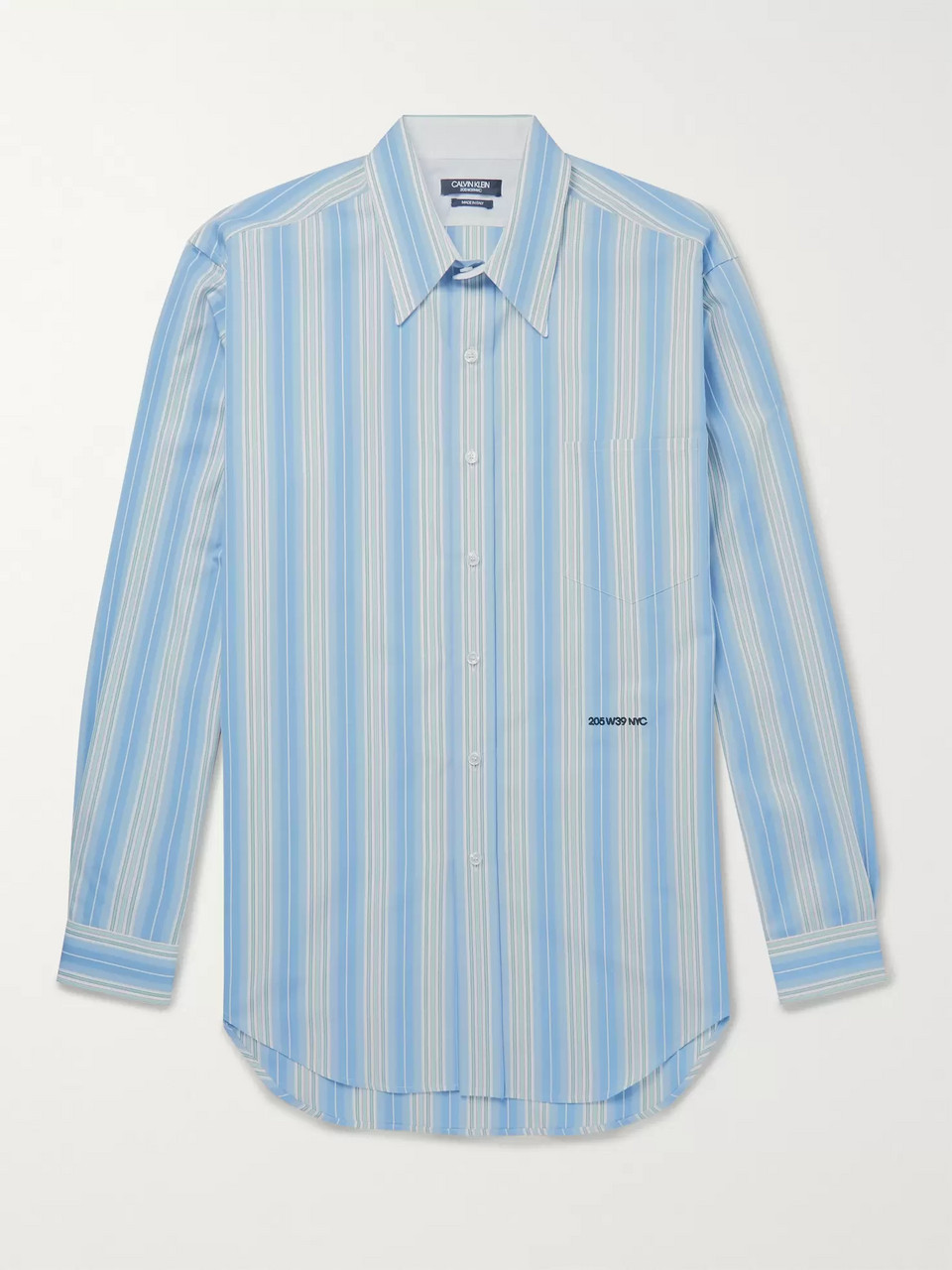 CALVIN KLEIN 205W39NYC Striped Cotton-Poplin Shirt