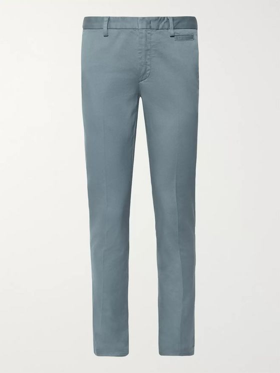 Prada Slim-Fit Stretch-Cotton Twill Chinos