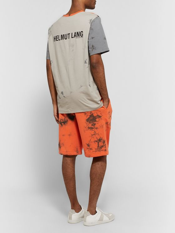 Helmut Lang Printed Tie-Dyed Cotton-Jersey T-shirt