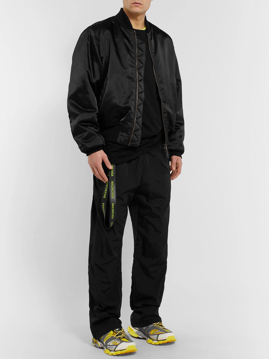 Balenciaga Jackets OVERSIZED EMBROIDERED SATIN BOMBER JACKET