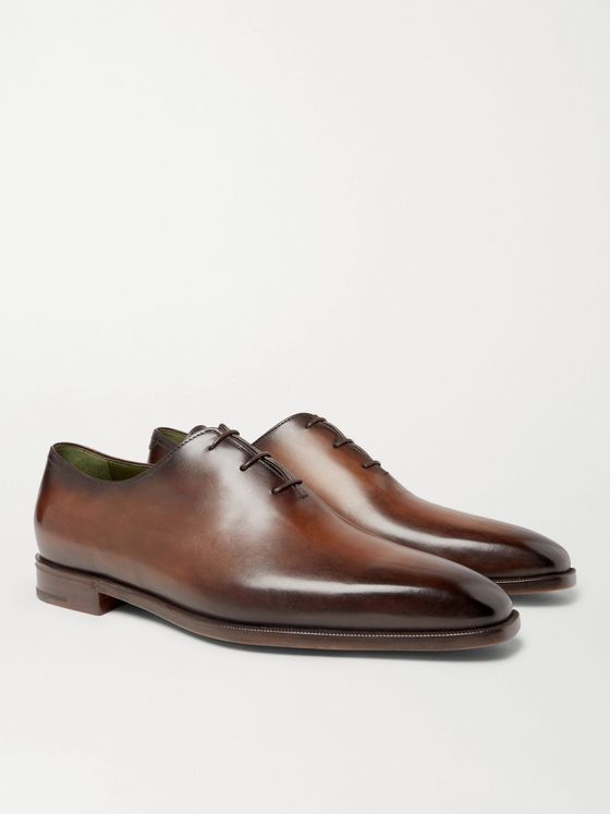 Berluti Blake Whole-Cut Venezia Leather Oxford Shoes