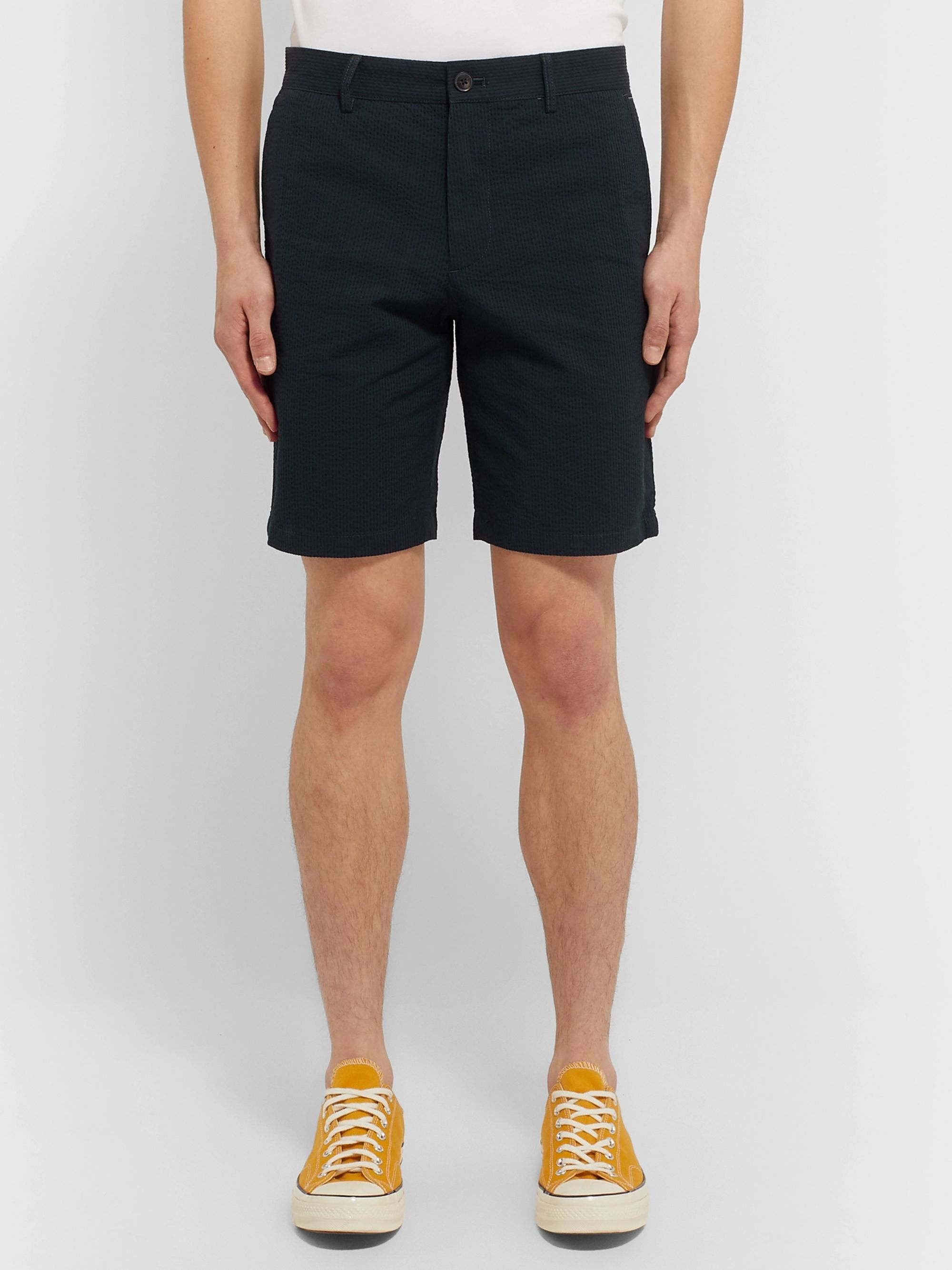 Club Monaco Maddox Stretch-Cotton Seersucker Shorts