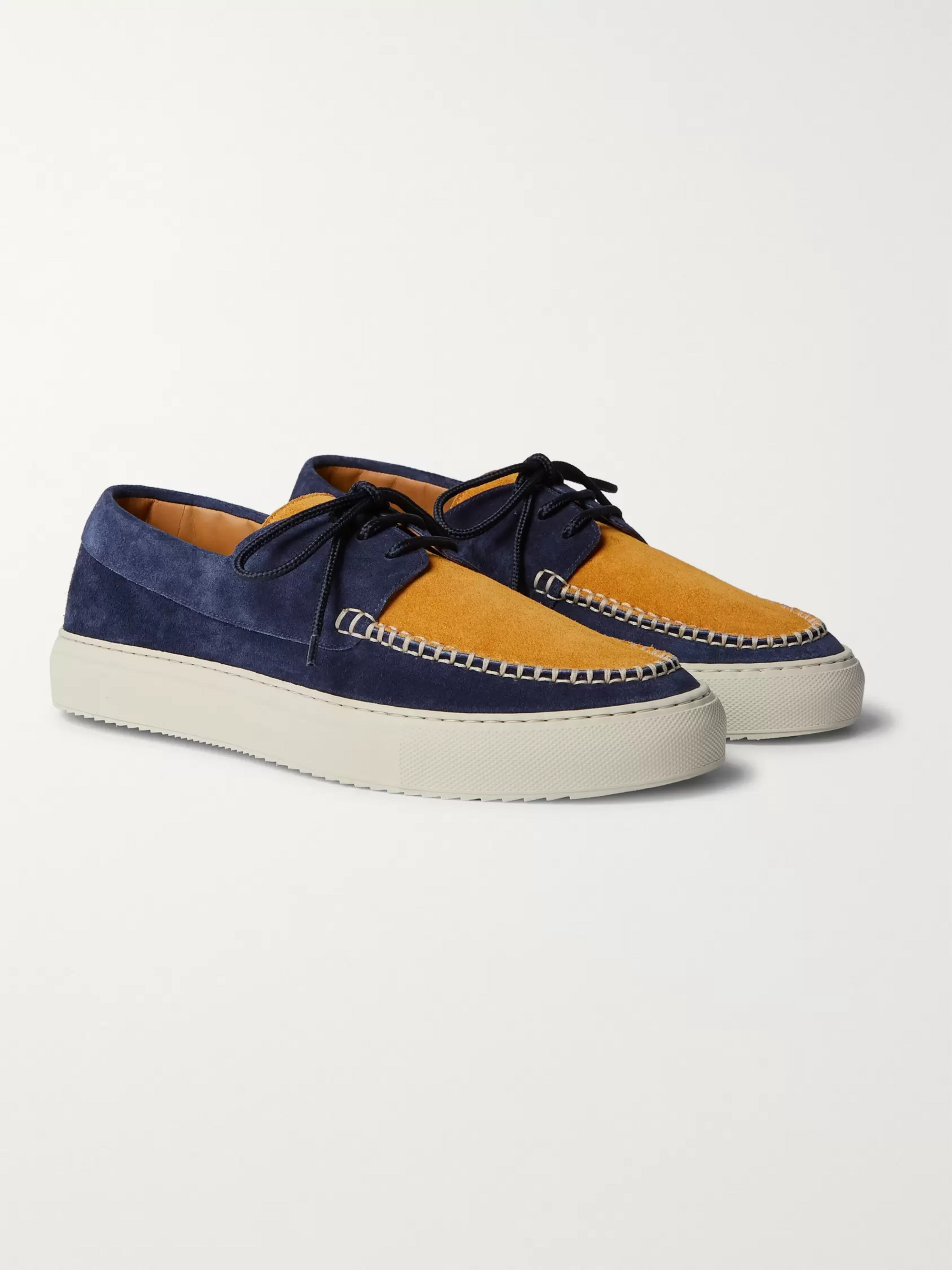 Mr P. Dennis Two-Tone Suede Boat Shoes