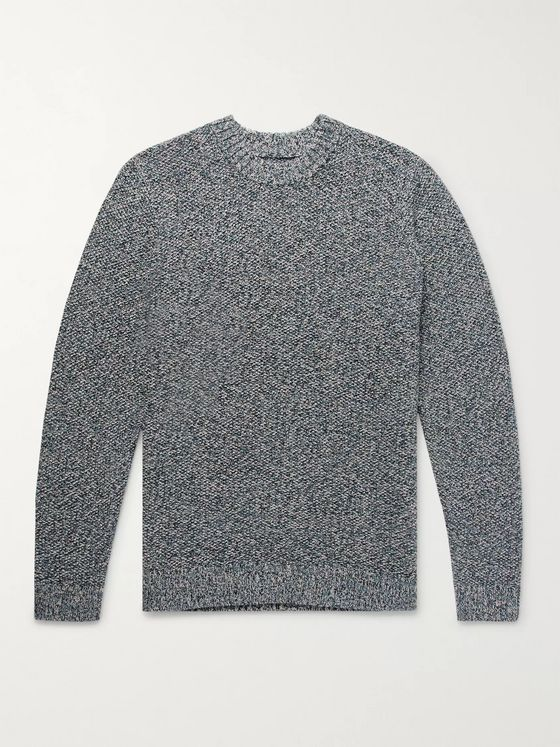Folk Mélange Stretch-Cotton Sweater