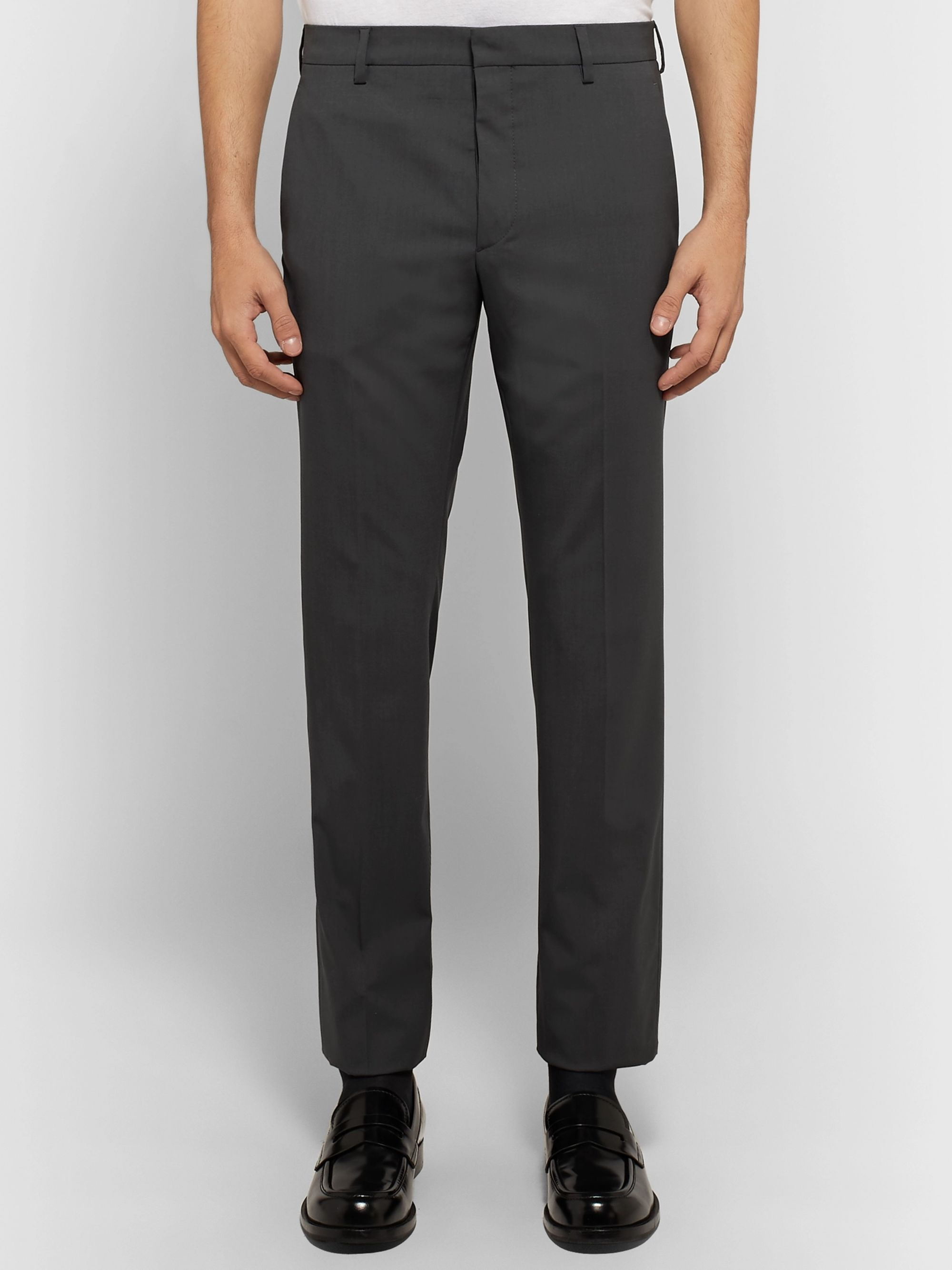 Prada Slim-Fit Stretch Virgin Wool-Blend Trousers