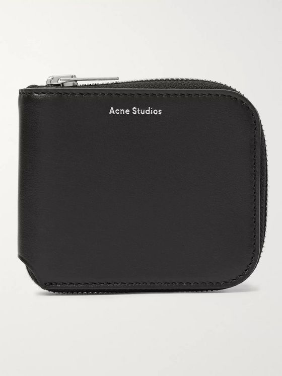 ACNE STUDIOS Logo-Print Leather Zip-Around Wallet