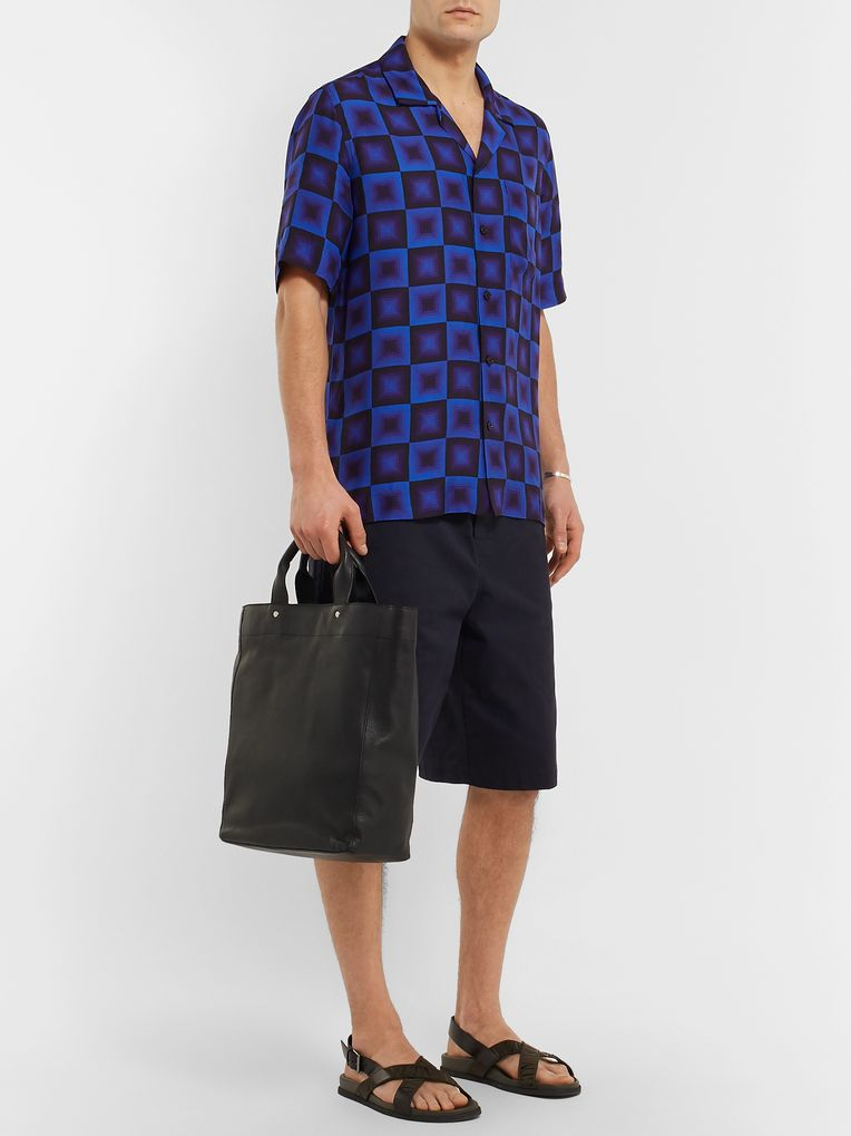 Dries Van Noten Camp-Collar Printed Woven Shirt