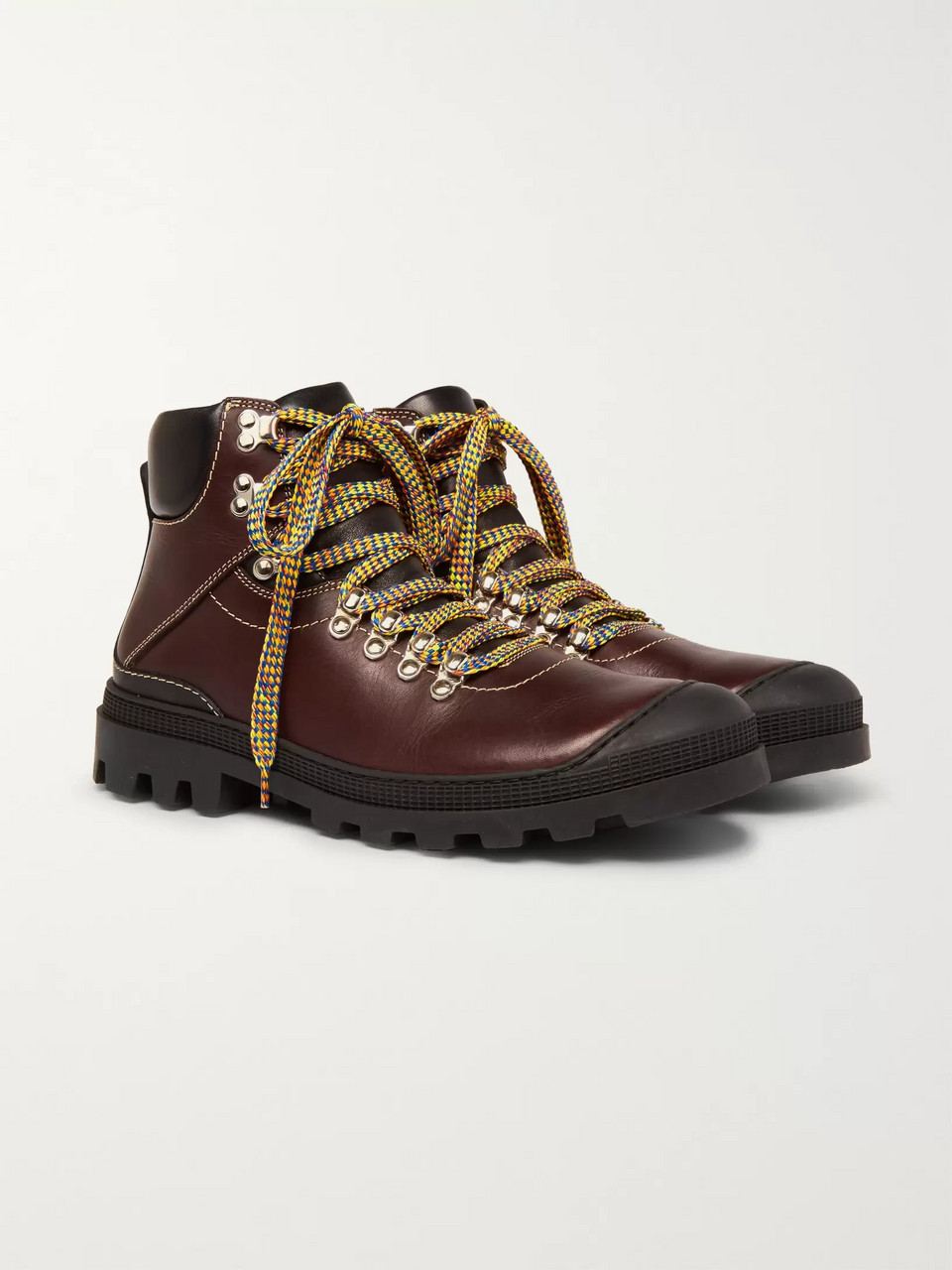 eye/LOEWE/nature Rubber-Trimmed Leather Boots